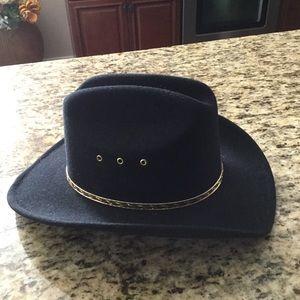 Western Express Black Felt Cowboy Hat Sz 6 7 8 ce3d91e1a72d